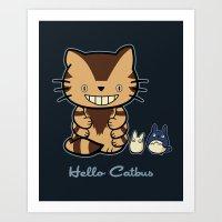 Hello Catbus Art Print
