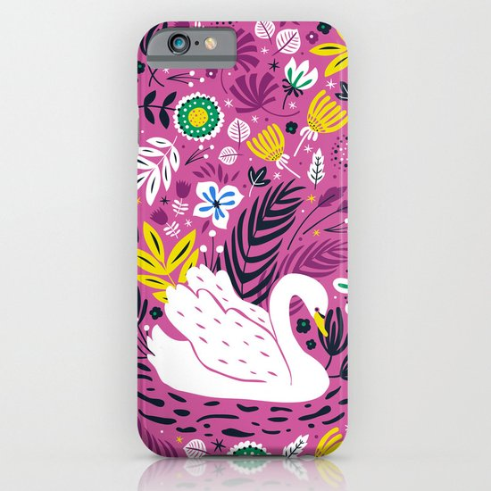 Delightful Swan iPhone & iPod Case
