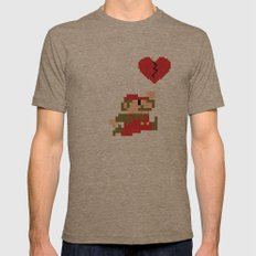 Heartbreaker Mario Mens Fitted Tee Tri-Coffee SMALL