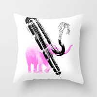 Can you go any lower? (Contra Bassoon) Throw Pillow
