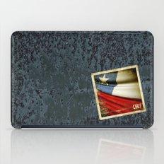 Chile grunge sticker flag iPad Case