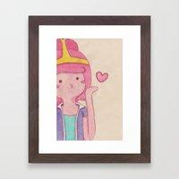 blow kiss Framed Art Print