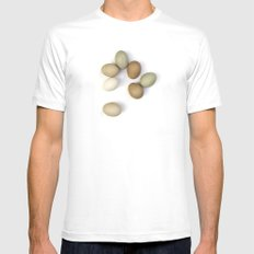 Eggs Mens Fitted Tee White SMALL