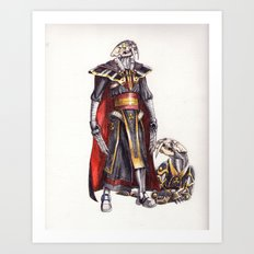 cyber saber toothed with his pet Art Print