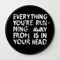 In your head Wall Clock