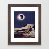 SOLAR ECLIPSE Framed Art Print