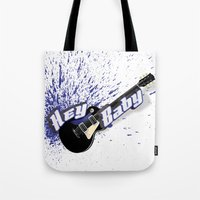 Hey Baby Guitar Tote Bag