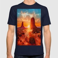 Red Dawn Mens Fitted Tee Navy SMALL