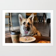 Coffee With The Pup Art Print