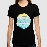 BEACH Womens Fitted Tee Black SMALL
