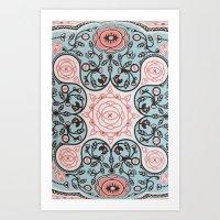 Paisly Prints Art Print
