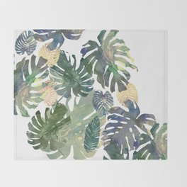 Throw Blanket - Tropical Leaves - franciscomffonseca