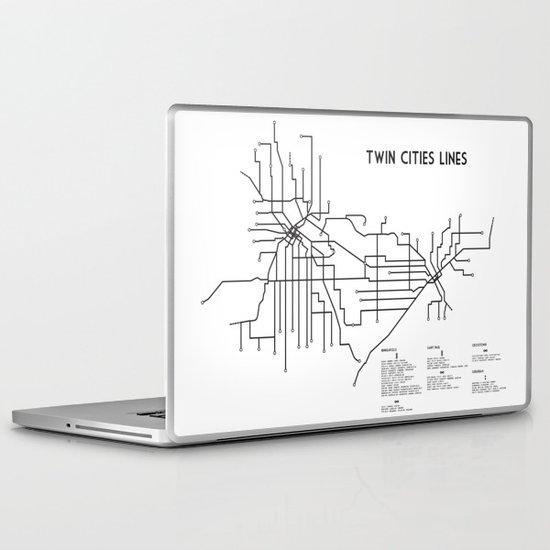 Twin Cities Lines Map Laptop & iPad Skin
