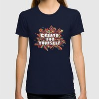 Create For Yourself (2) Womens Fitted Tee Navy SMALL