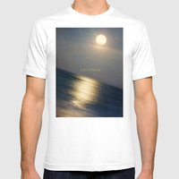 This Serious Moonlight Mens Fitted Tee White SMALL
