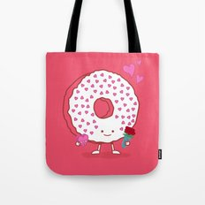 The Donut Valentine Tote Bag