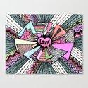 Power of LOVE...(retro pastel) Canvas Print
