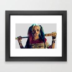 Daddy's Monster - Harley Quinn Low Poly Art Framed Art Print