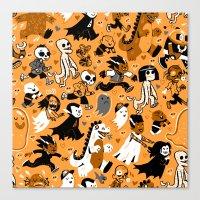 Alt Monster March (Orange) Canvas Print