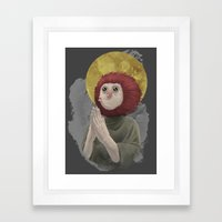 Owl Messiah Framed Art Print