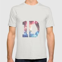 1D: Galaxy White Mens Fitted Tee Silver SMALL