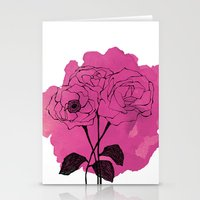 Spray Roses Stationery Cards