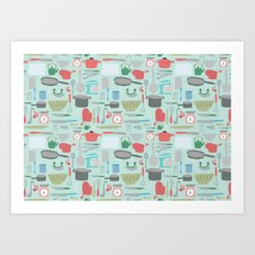 Kitchen Pattern Art Print