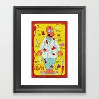 Dr. Zoidberg's Useless Organs  Framed Art Print