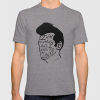How soon is now? Mens Fitted Tee Tri-Grey SMALL