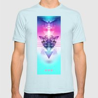 3-3-3 Mens Fitted Tee Light Blue SMALL