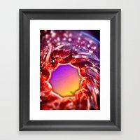Raspberry Winter Framed Art Print