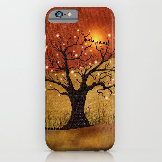 sunset and lights iPhone & iPod Case