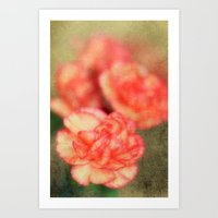 Concrete Carnation Art Print