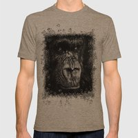 The Wise Simian (Gorilla) Mens Fitted Tee Tri-Coffee SMALL
