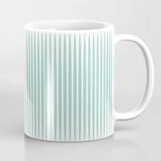 Soft green stripes Mug