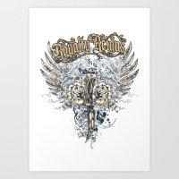 Royalty dagger Art Print