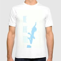 FREE (with Text) Mens Fitted Tee White SMALL