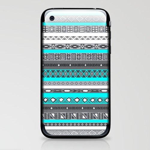 Ice Mint Blue Grey Aztec Pattern iPhone iPhone & iPod Skin