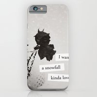 iPhone & iPod Case featuring I want a snowfall kinda love. by lissalaine