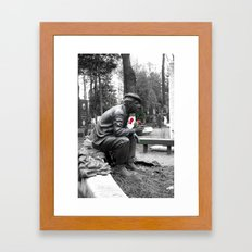 Only Flowers Remain Framed Art Print