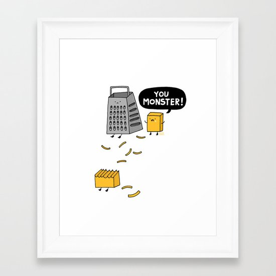 You Really Grate on Me Framed Art Print
