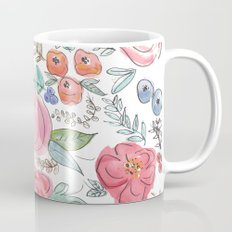 Watercolor Floral Print Mug