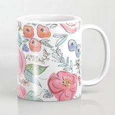 Watercolor Floral Print Mug