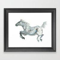 Blue Horse Framed Art Print