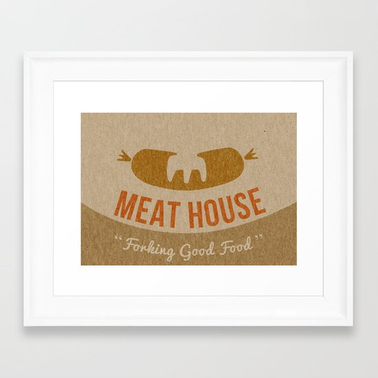 Book a table and I'll meat you there Framed Art Print