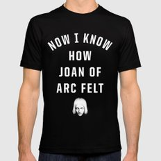 Joan of Arc Black Mens Fitted Tee SMALL