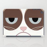 Grumpy Chubby Cat iPad Case