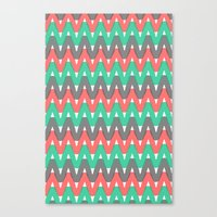 Summer Pattern 3 (Watermelon) Canvas Print