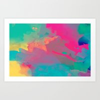 The Colors Mix Art Print