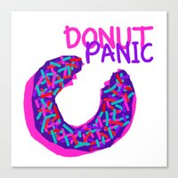 DONUT PANIC [LOST TIME] Canvas Print